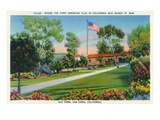 San Diego  California - Old Town Plaza Flagpole View