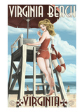 Virginia Beach  Virginia - Pinup Girl Lifeguard