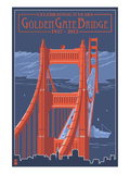 Golden Gate Bridge and Skyline - 75th Anniversary - San Francisco  CA
