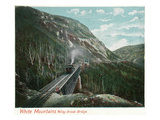 White Mountains  New Hampshire - Train Crossing the Willey Brook Bridge