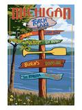 Torch Lake  Michigan - Sign Destinations