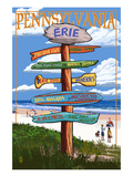 Erie  Pennsylvania - Sign Destinations