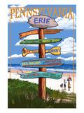 Erie  Pennsylvania - Sign Destinations