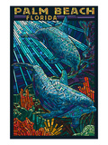 Palm Beach  Florida - Dolphins Paper Mosaic