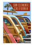 San Clemente  California - Woodies Lined Up
