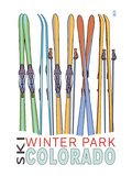 Winter Park  Colorado - Skis in Snow