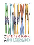 Winter Park  Colorado - Skis in Snow