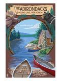 The Adirondacks - Long Lake  New York State - Montage