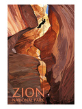 Zion National Park - Canyoneering Scene