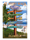 Ft Myers Beach  Florida - Destination Signs