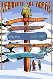 Vermont - Ski Areas Sign Destinations