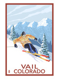 Vail  CO - Vail Downhill Skier