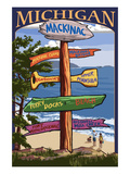 Mackinac  Michigan - Sign Destinations