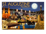 St Augustine  Florida - Night Scene