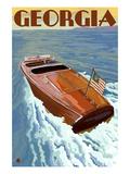 Georgia - Wooden Boat on Lake