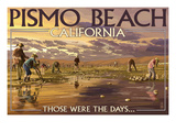Pismo Beach  California - Clam Diggers