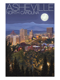 Asheville  North Carolina - Skyline at Night