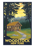 Woodstock  New York - Cabin Scene