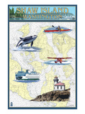 Shaw Island  Washington - Nautical Chart