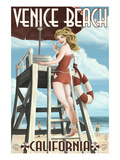 Venice Beach  California - Lifeguard Pinup