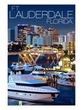 Ft Lauderdale  Florida - Night Scene