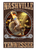 Nashville  Tennessee - Cowgirl and Mechanical Bull