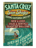 Santa Cruz  California - Sun Shops Surf Shop