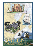 Salem  Massachusetts - Nautical Chart
