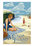 Marco Island  Florida - Woman on Beach