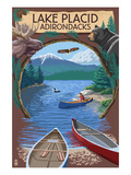 Lake Placid  New York - Adirondacks Canoe Scene