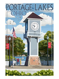 Portage Lakes  Ohio - Clock Tower