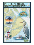 Hilton Head  South Carolina - Nautical Chart