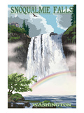 Snoqualmie Falls  Washington - Summer Scene