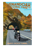 Shenandoah National Park  Virginia - Marys Rock Tunnel Motorcycle
