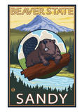 Beaver and Mt Hood - Sandy  Oregon