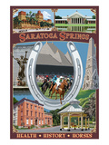 Saratoga Springs  New York - Town Montage