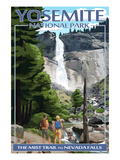 The Mist Trail - Yosemite National Park  California