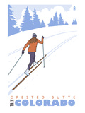 Crested Butte  Colorado - Cross Country Skier