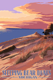 Sleeping Bear Dunes  Michigan - Dunes Sunset and Bear