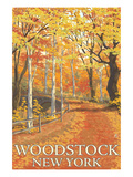 Woodstock  New York - Fall Colors Scene