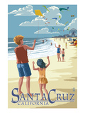 Santa Cruz  California - Beach and Kite Flyers