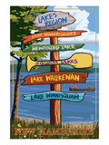 Lakes Region  New Hampshire - Destination Sign