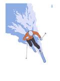 Downhill Skier Stylized - Male