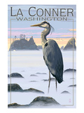 La Conner  Washington - Blue Heron