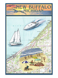 New Buffalo  Michigan - Nautical Chart