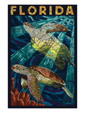 Sea Turtle Paper Mosaic - Florida