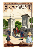 St Augustine  Florida - City Gates