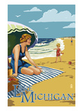 Lake Michigan - Beach Scene