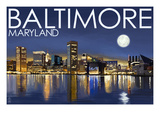 Baltimore  Maryland - Skyline at Night