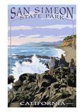 San Simeon State Park - Beach Scene - California